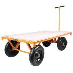 Carrinho plataforma 600kg em madeira