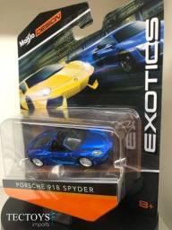 Miniatura Carro Porsche 918 Spyder Azul 1:64 Maisto Design