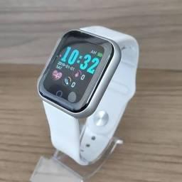 Smartwatch com notificações de redes sociais e foto na tela - modelo y68 D20