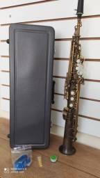 Sax soprano reto Eagle 0405 (envelhecido) revisado