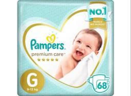 Título do anúncio: Vendo pacote de Fraldas Pampers G