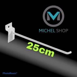 Título do anúncio: Kit gancho 25cm para painel canaletado expositor