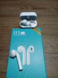 Fone Bluetooth branco estilo iphone