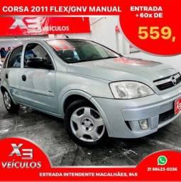 Título do anúncio: Novo Corsa 2011 flex/GNV completo 48x 559,
