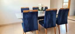 Título do anúncio: Mesa de jantar em laca 8 lugares com 6 cadeiras