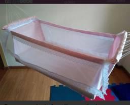 Título do anúncio: Rede berço para bebê na cor rosa pink