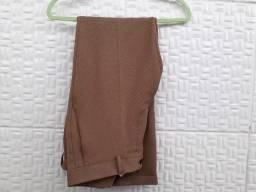 Calça Zara Original Marrom - Tam 38 - Tecido fino/linho