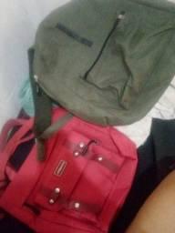 Mochila e bolsa