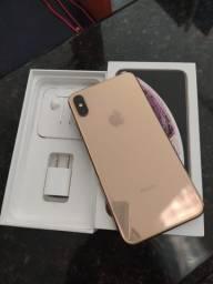 Título do anúncio: IPhone XS Max Gold 256GB com caixa e todos acessórios(fone e carregador)
