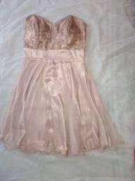 Título do anúncio: Vestido de festa lindo, Cor Rose Gold