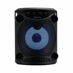 Caixinha De Som Bluetooth Portátil A-1 112 Karaokê Usb 10w