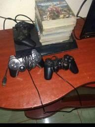 Playstation 3 completo varios jogos na memória e em cds