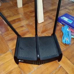 Título do anúncio: Roteador tp-link 3 antenas com kit de rede