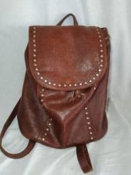 Bolsa sacola de couro Via Mia