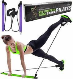 Kit portátil com barra pilates