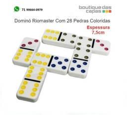 Jogo Dominó 28 Pedras Colorido com estojo 2020044664004