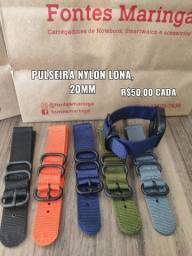 Título do anúncio: Pulseira Nylon Lona para Amazfit Bip S