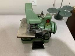Máquina overlock semi industrial com mesa