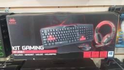 Kit Gamer Completo Mouse Teclado Fone e Pad