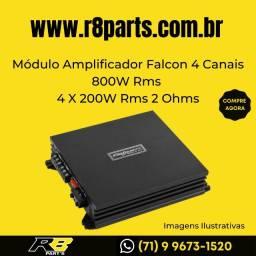 Módulo Amplificador Falcon 4 Canais 800W Rms 4 X 200W Rms 2 Ohms