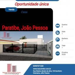 Casa para Venda em João Pessoa, Paratibe, 2 dormitórios, 1 suíte, 1 banheiro, 1 vaga