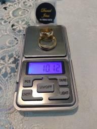 Aliança grossa em ouro peso 10.12 aceito cartão entrego gravado nome