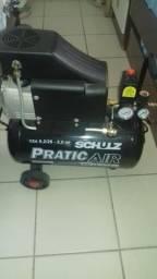 Compressor Schulz Pratic Ar 116 lbf 220 w- Mangueira e Pistola