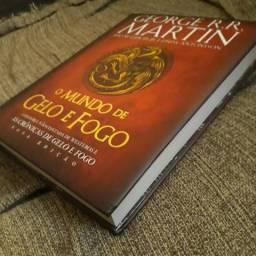 Livro O mundo de gelo e fogo George R. R. Martin Game of Thrones