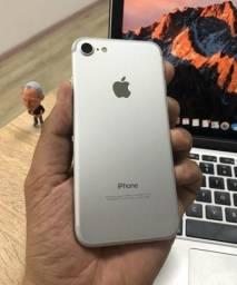 IPhone 7 128 GB Prata, Completo Bem Conservado
