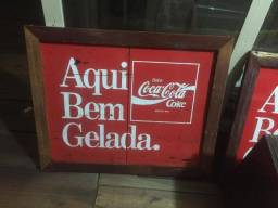 Placa Coca Cola antiga