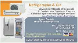 INSTALAÇÃO DE AR CONDICIONADO (SPLIT E JANELA) RIO E GRANDE RIO - Promoção comprar usado  Rio de Janeiro