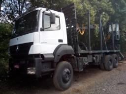 Axor 3344 com grua florestal tmo 7.70, transtora, pego troca até 100 mil no maximo! (6x4)