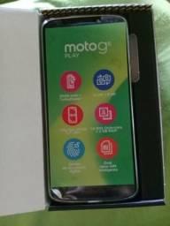 Moto g6 play índigo semi novo