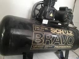 Compressor de Ar Industrial Schulz 200 litros - 10 Pés Monofásico