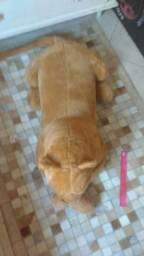 Onça pelúcia gigante deitada