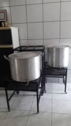 Kit de panelas alumínio cervejeiras e brewstand