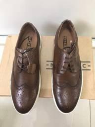 Sapato Mac & Jac Brogue Couro Marrom - Nº 38