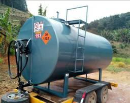 Tanque aéreo para abastecimento diesel