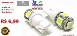 Lâmpada Led T10 Pingo 5 Led 5050 Smd W5w Unidade