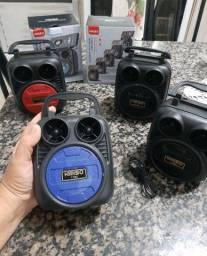 Mini Caixa Caixinha De Som Portátil Bluetooth Usb Cartão Sd Auxiliar Suporte