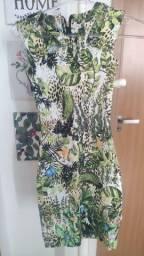 Título do anúncio: Vestido curto estampado floral (Usado) PP