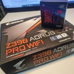 Kit Ultra Cpu Intel Core i7 9700K + Gigabyte Z390M Gaming  - Nova Garantia