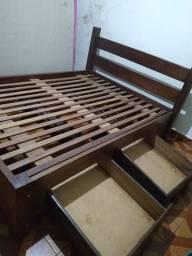 Título do anúncio: Cama de madeira pura