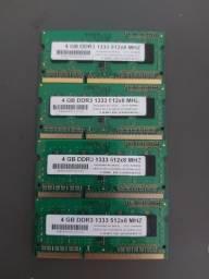 Título do anúncio: Memórias DDR3 notebook PC3L