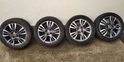 Título do anúncio: Jogo de roda 15 Fiat com pneu