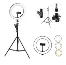Título do anúncio: Ring Light Iluminador Anel Luz Portátil 30cm 12 Polegadas Make Fotos Com Tripé  2 Metros