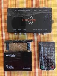 PhoneLink Connect + Receptor TV Digital + Cabos - Automotivo