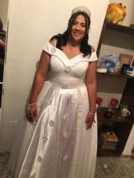 Vestido de noiva todo na perola