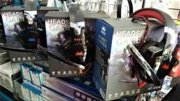 Headset Gamer Fone Led Knup Ps4 Xbox One Smartphone Kp-455a (Lojas WiKi)