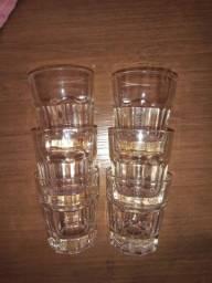Título do anúncio: 6 copos dose 1 refratário vidro leitoso